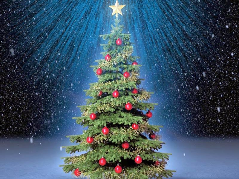 arbol de navidad bolas rojas - Imagenes Arbol De Navidad
