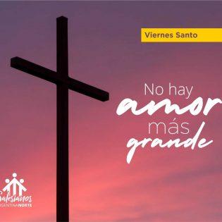 """""""Frente a la cruz las palabras sobran"""""""